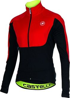 Castelli Mens Passo Giau Jacket XLarge RedBlack -- Find out more about the  great product 3c78b2d45