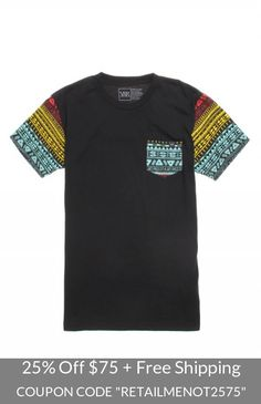 Mens Young & Reckless T-Shirts - Young & Reckless Killer Crossover Pocket T-Shirt