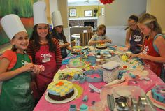 Cake decorating party for 'tweens