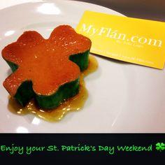 Happy St. Patrick's Day   #flan #stpatricksday #stpattysday #shamrock #clover #pudim #postre #dessert #dessert #myflan #flandelugo #caramel #happystpatricksday #green #custard #leprechaun #love #nyc #cali #worldwide #bake Flan Dessert, Paddys Day, Happy St Patricks Day, Luck Of The Irish, Green Day, Custard, Caramel, Stuffed Peppers, Baking