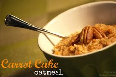 Carrot Cake Oatmeal - vegan, low fat, healthy, gluten free, breakfast