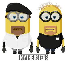 Nice: DOCTOR WHO, BREAKING BAD, MYTHBUSTERS Minions Art