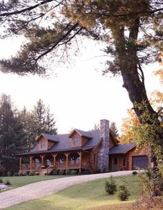 Log home in Vermont