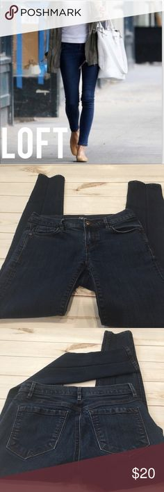 """🆕 Ann Taylor Loft Skinny Jeans Ann Taylor Modern Skinny Jeans are mid-rise with a slim, streamlined fit from hip to hem. These jeans are very flattering. Material is 75% Cotton 23% Polyester and 2% Spandex. Waist laying flat is 14"""" inseam is 30"""" LOFT Jeans Skinny"""