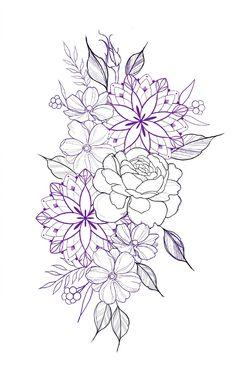 Tattoo Mandala Feminina, Mandala Thigh Tattoo, Mandala Flower Tattoos, Mandala Tattoo Sleeve Women, Mandala Tattoos For Women, Floral Tattoo Design, Mandala Tattoo Design, Flower Tattoo Designs, Forearm Tattoos