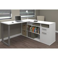 Bestar Solay L Shaped Desk In White   29420 17