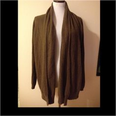 American Vintage Angora long cardigan wrap shrug Really nice olive cardigan in a size large and is an angora mix and is very soft. No buttons or pockets just free flowing and simple! Smoke free home! American vintage  Sweaters Shrugs & Ponchos
