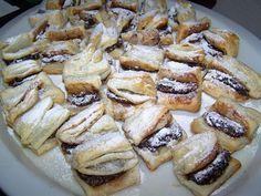 hajtogatott hájas tészta recept stories and pictures at blikkruzs. Hungarian Desserts, Hungarian Recipes, Cookie Desserts, Cookie Recipes, My Recipes, Sweet Recipes, Bread And Pastries, Sweet And Salty, Food 52