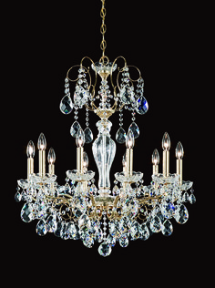 Schonbek 6817 olde world 32 inch chandelier bohemia bring light to your room with gorgeous and expertly crafted classic crystal chandelier available at aloadofball Gallery