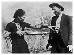 On this day in May notorious criminals Bonnie Parker and Clyde Barrow are shot to death by Texas and Louisiana state police while driving a stolen car near Sailes, Louisiana. Bonnie Parker, Bonnie Y Clyde, Henry Ford, Young Couples, Couples In Love, Famous Outlaws, Famous Murders, Famous Duos, Bank Robber
