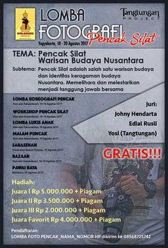 #Lomba #Fotografi #PencakSilat #Malioboro #Festival #Yogyakarta Pencak Malioboro Festival 2017 Lomba Fotografi Pencak Silat  LOMBA: 18 - 20 Agustus 2017  http://infosayembara.com/info-lomba.php?judul=pencak-malioboro-festival-2017-lomba-fotografi-pencak-silat