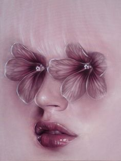 """Fioriture"" - Beniamino Leone, oil on canvas {beautiful flora fantasy art female head flower eyes woman face portrait painting} beniaminoleone.tumblr.com"