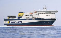 ANEK Lines 2013 ferry schedules for the routes Patra – Venice connecting Greece and Italy