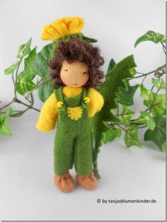 Jahreszeitentisch - Löwenzahn - Junge - Blumenkind Jahreszeitentisch - ein Designerstück von Tanjas-Blumenkinder bei DaWanda