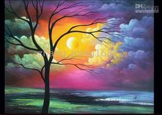Beautiful Abstract Landscape Art Oil Painting size:24x36