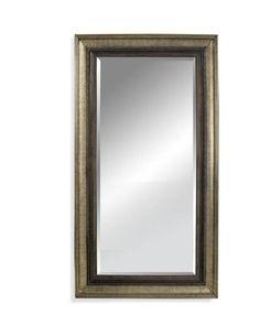 Garlindo Antique Silver Old World Wood Leaner Mirror