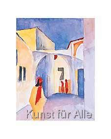 August Macke - Glance down in Alley in Tunis