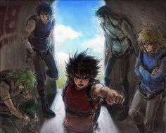 Shiryu, Ikki, shun, Seiya and Hyoga