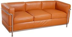 MLF Le Corbusier Style LC2 Sofa 3 Seater Aniline Leather Chocolate Brown * Details can be found by clicking on the image. (This is an affiliate link)