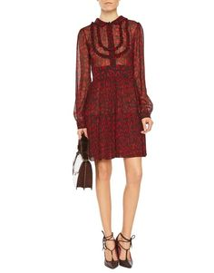 Animalier Print –Blumarine Fall Winter 2016/17 • Animal-Print Silk Dress • This animal-print pure silk, long sleeved dress has a collar, fly and shirt cuffs. It has micro ruching decoration on the front and a pleated skirt with flounce at the hem.