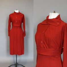 Claire McCardell Dress Vintage Wool Wiggle by persnicketyvintage, $428.50