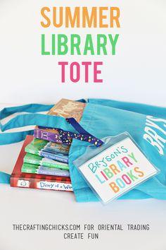 DIY Summer Library Totes | Library Book Bag