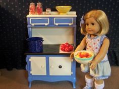 American Girl Kit S Cookstove For Dolls Retired Cooking
