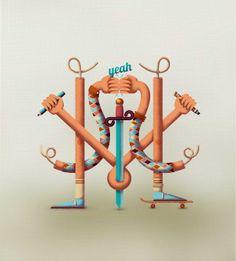 Monograma by Havi Cruz, via Behance