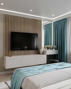 Read all you need to know about living room minimalist. Get inspired simple living room design, modern small living room, Minimalist interior design. Bedroom Bed Design, Modern Bedroom Design, Home Room Design, Home Decor Bedroom, Home Living Room, Home Interior Design, Modern Tv Room, Master Bedroom, Bedroom Ideas