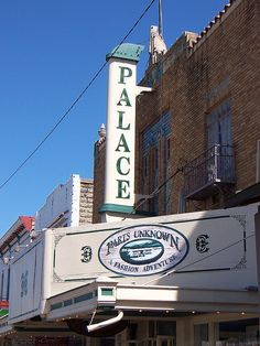 The Old Palace Theater building, Fredericksburg, Texas.