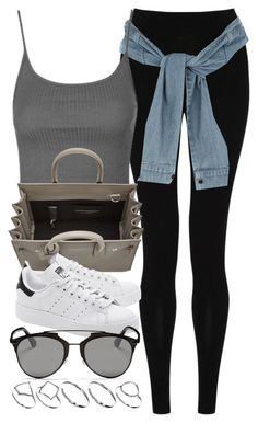 """""""Style  #10567"""" by vany-alvarado ❤ liked on Polyvore featuring M&S Collection, River Island, Topshop, Yves Saint Laurent, adidas Originals, Christian Dior and ASOS"""