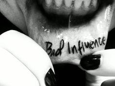 amazing inner lip tattoo
