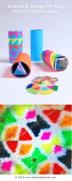 DIY Kaleidoscopes: Simple open ended kaleidoscopes to make at home.