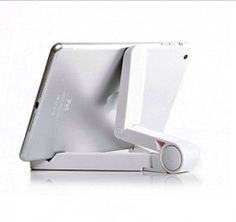 iPad Stand, Camkey Folding Tablet Stand, Portable Mini iPad Stand Adjustable Tablet Stands and Holders for 7-10 inch pad, E-Readers, Smartphones, iPhone, iPad Air , Samsung Galaxy Tab, Kindle(White)