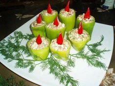 karácsonyi hidegtál Food Decoration, Fruit Salad, Finger Foods, Panna Cotta, Buffet, Sandwiches, Cheesecake, Snacks, Dishes