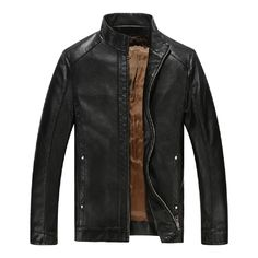 KUYOMENS New Spring Autumn Brand Leather Jacket Men's Stand Collar Jaqueta Couro Bomber Jacket Faux Leather Coat Suede