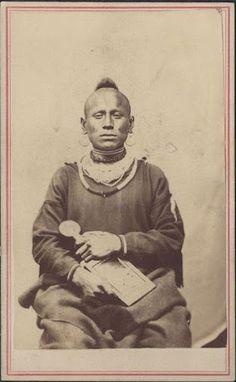 Pawnee man - circa 1867