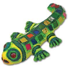 Glass Gem Gecko - United Art & Education original project #99.