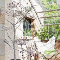 Des fleurs de graminées recouvertes de plâtre - Marie Claire Idées