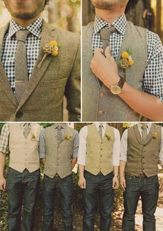 This is what my groom and his boys will be wearing.. will have to figure out a way to make him stand out though..