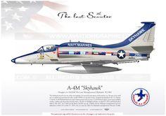"UNITED STATES NAVY : Manufacturer: Douglas / Model: A-4M/AR ""Skyhawk"""