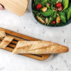 BergHOFF Leo Collection Bamboo Baguette Cutting Board with Tray - Gray Quick Recipes, Light Recipes, Cooking Recipes, Baguette, Gluten Free Puff Pastry, Slimming Recipes, Original Recipe, Clean Eating Snacks, Bruschetta