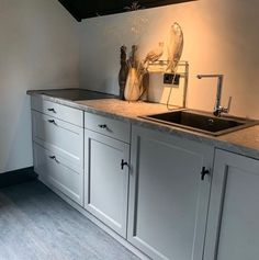 Beautiful Kitchens, Scandinavian Style, House Painting, Double Vanity, Cabinet, Interior Design, Bathroom, House Styles, Storage