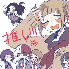 Boku no Hero Academia    Momo Yaoyorozu, Himiko Toga, Kyouka Jirou, Todoroki Shouto, Uraraka Ochako, Tsuyu Asui.