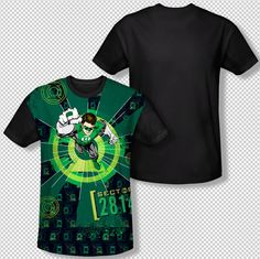 New Green Lantern Sector 2814 DC Comics All Over Front Sublimation T-shirt Top Mens Sizes: S, M, L, XL, 2XL, 3XL