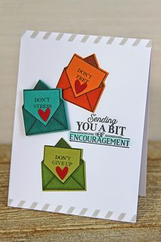 Sending Encouragement Card by Erin Lincoln for Papertrey Ink (November 2014)