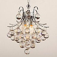 40+Pendant+Light+,++Modern/Contemporary+Chrome+Feature+for+Crystal+Plastic+Living+Room+Bedroom+–+AUD+$+285.99