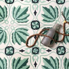 """Grow House Grow Ortiga Cement Tiles. Colors can be customized! """"The Ortiga tile–meaning """"nettle"""" in Spanish–is part of our classic tile line made in collaboration with our tile maker in Mexico."""""""