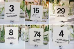 Meaningful table numbers at Amanda & Peter's Inn of the Seventh Ray Wedding | Sweet Little Photographs