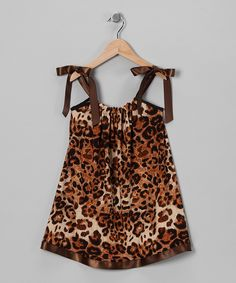 Brown Leopard Swing Dress - Infant, Toddler & Girls